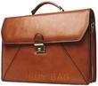 Портфель кожаный Katana k63060 коричневый коньячный