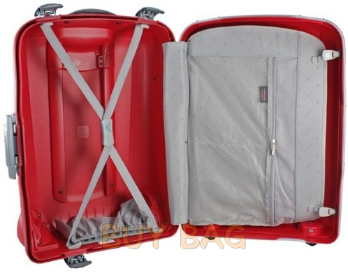 Пластиковый чемодан на защелках купить